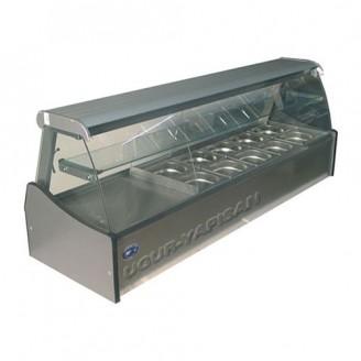 Vitrina frigorifica orizontala pentru expunere salate - 1,50 m