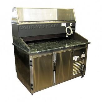 Vitrina frigorifica orizontala pentru expunere salate cu depozit frigorific - 1,50 m