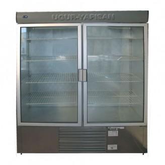 Vitrina frigorifica verticala cu doua usi alaturate INOX